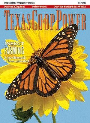 Texas Coop Power Magazine Cover - July 2016